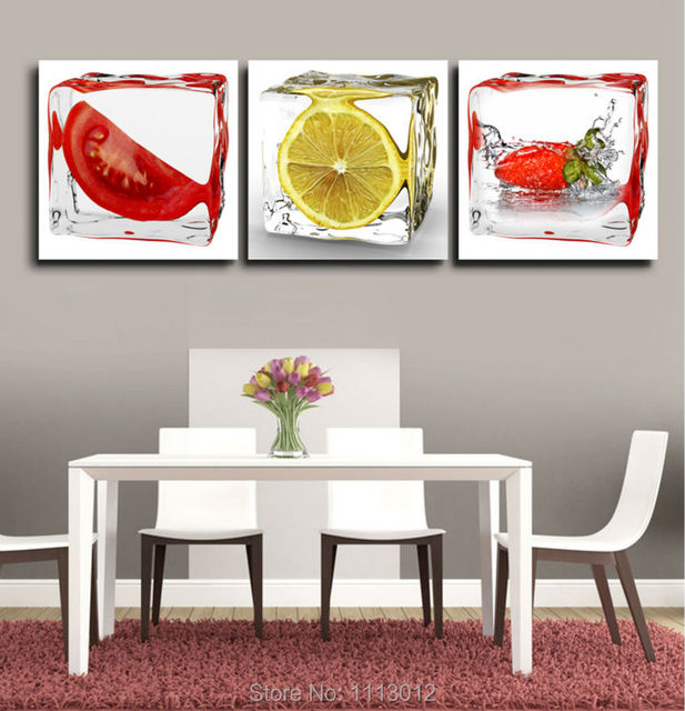 spray modern abstract fruit home wall decoration oil painting