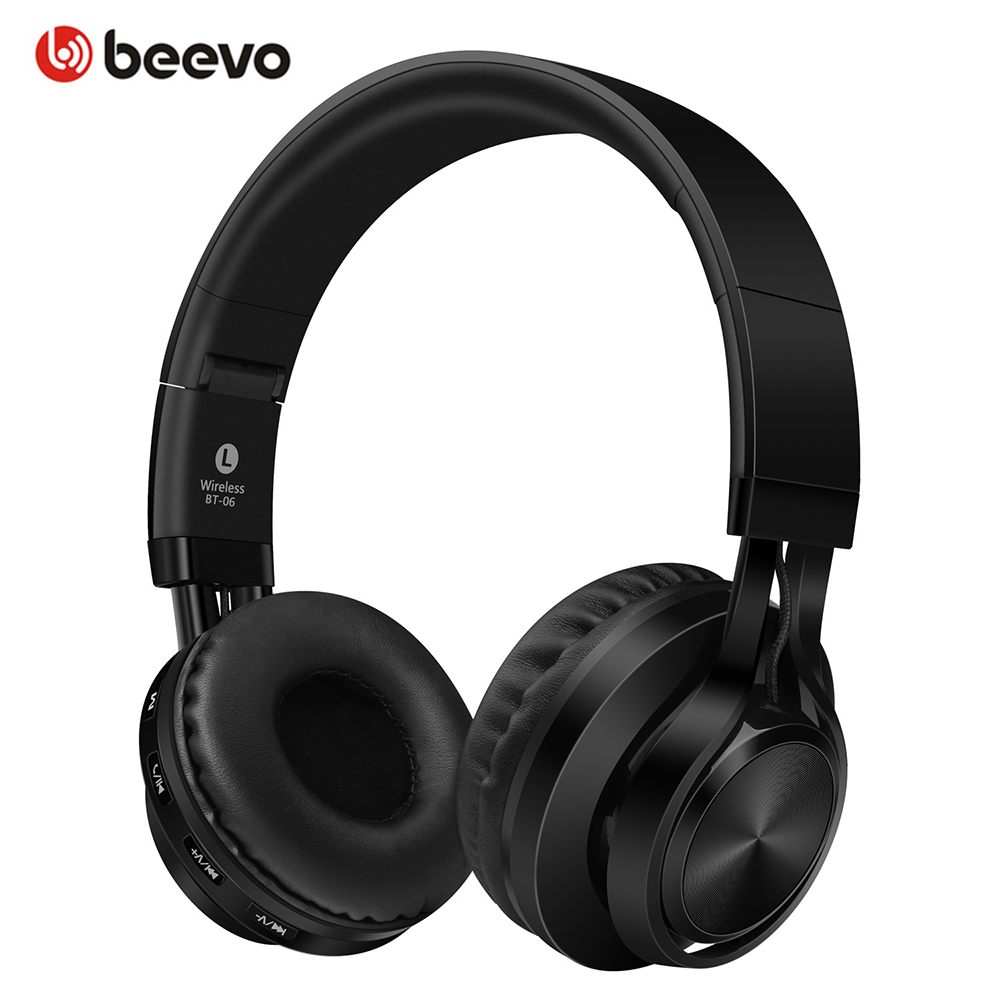 BT-06 Foldable Wireless Bluetooth Headphones Support TF Card/Handsfree Call With Mic Portable Earphones Mobile Phone Headsets handsfree call metal earphones with mic
