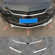 Chevy Chevrolet Malibu 2016 2017 2018 krom ön tampon ızgara kapağı Trim ışık Accent ekleme koruyucu kalıp garnitür