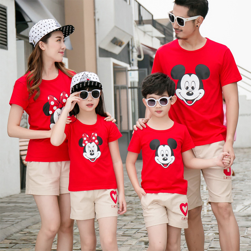 Fashion Short Sleeve+shorts Clothing Set Cartoon Mickey High