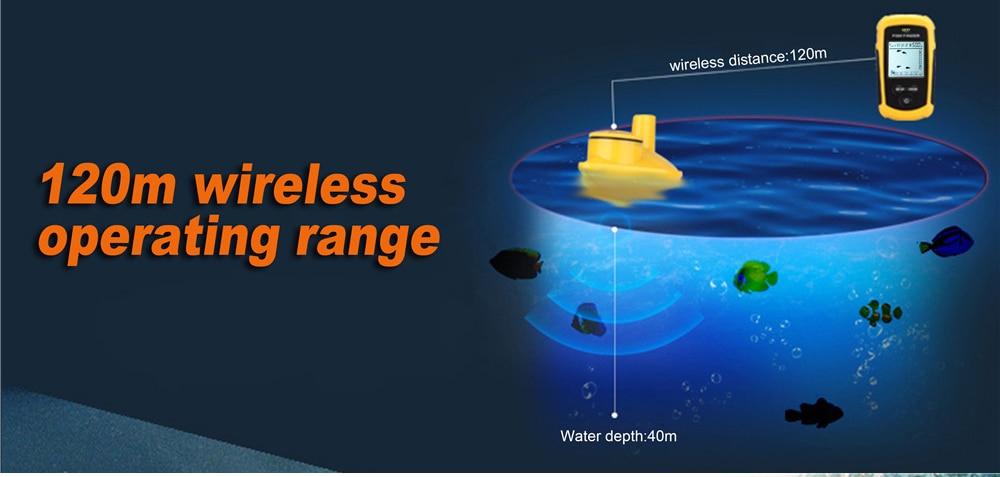 FFW1108-1 Portátil 100 m Wireless Fish Finder