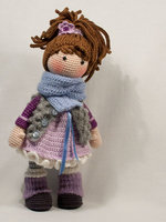 Crochet baby doll toy gift for freind rattle