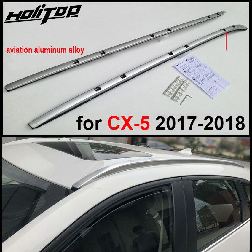 Nouvelle arrivée en aluminium porte-bagages rail de toit toit rack croix faisceau pour Mazda CX-5 2017-2018, avec vis. fortement recommandé.