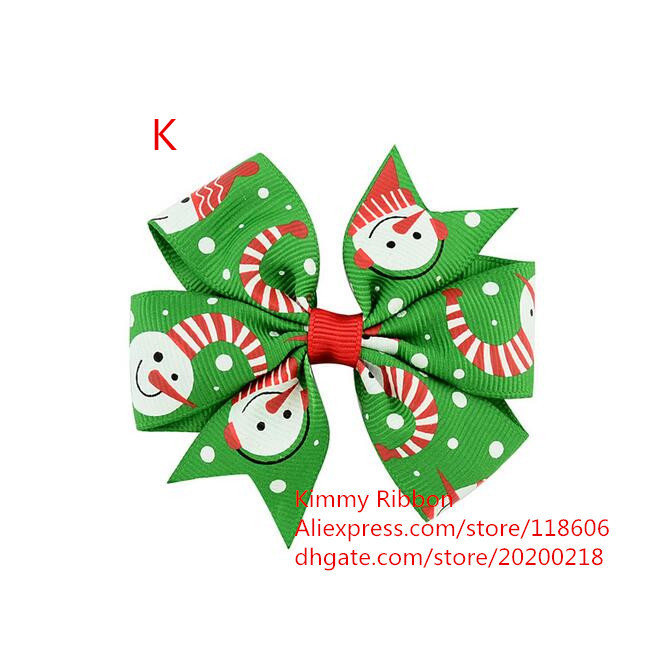 200pcs Cute Christmas Hair Bows for Girls & Kids | Holiday Accessories