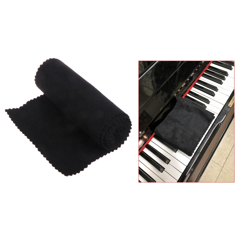 88 Keys Black Soft Piano Key Cover Keyboard Dust Proof Moisture Flannel Cloth #20/10W