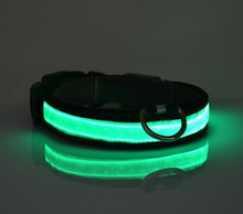 "Convenient, handy ""glow-in-the-dark"" LED dog collar in all colors"