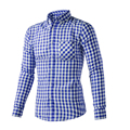 Luopei Мужская Рубашка Мода Дизайн Turn Down Воротник С Цветом Межфазных
