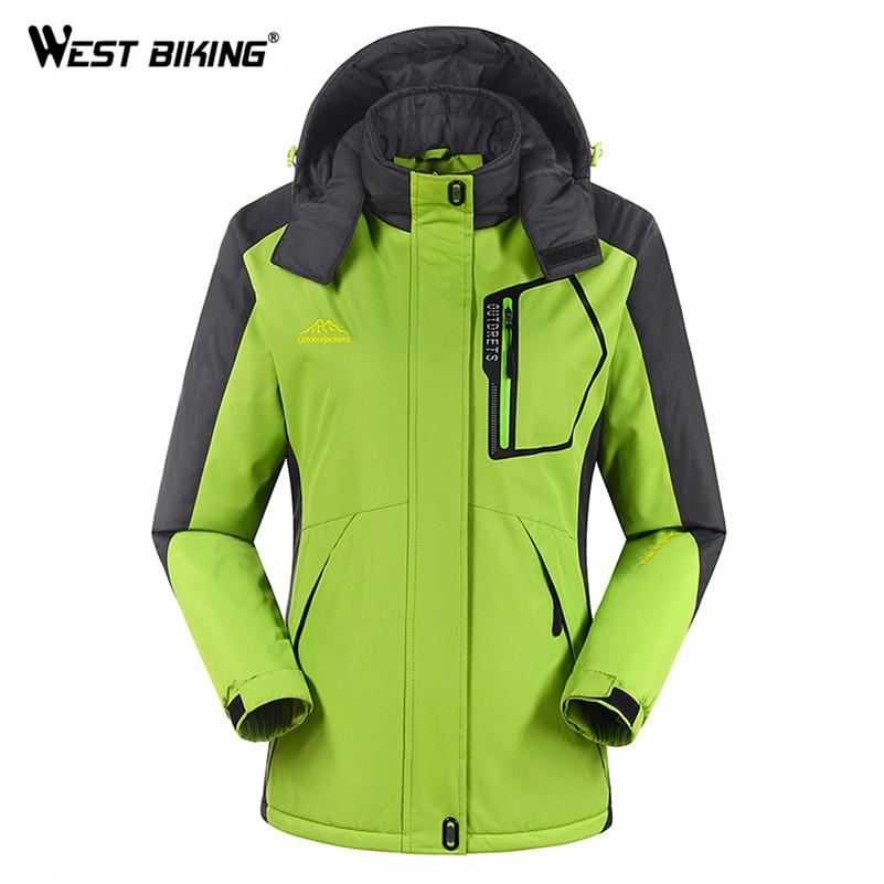 WEST BIKING Womens Waterproof Breathable Warm Jacket Mens Windbreaker Sport Coat Winter Ski Cycling Jacket