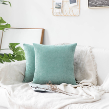 Decorative Throw Pillow Covers Square Soft Soild Chenille Velvet Cushion Cover Pillow Case for Sofa Bedroom Car цены