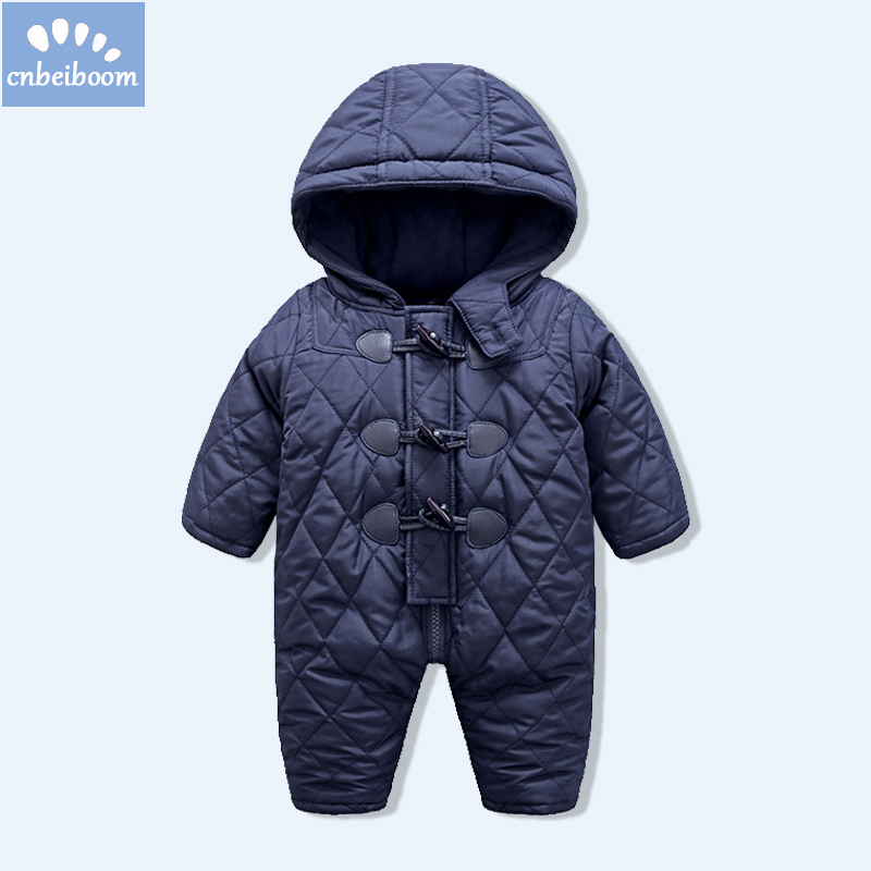 2018 Winter Baby Clothes Boys Girls Rompers Warm Thickening Hooded Infant Overalls for Newborn Kid Outwear ski suit Clothing baby rompers winter thick climbing clothes newborn boys girls warm jumpsuit 2018 high quality ski suit outwear for infant 0 18 m