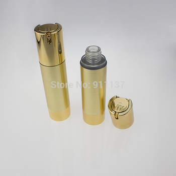 ZA213 50g gold airless packaging for cosmetic , pp 50ml airless bottle for cosmetic , round 50g airless cosmetic container