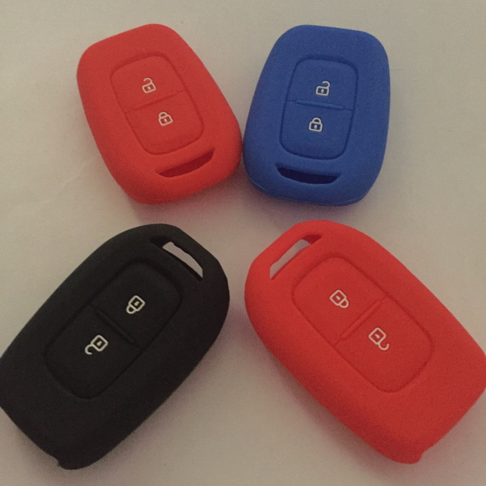 2016 new model silicone car key case cover for Renault 2 buttons silicone car key key