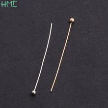 300 stücke 0,5x30mm Rhodium/KC Gold Kupfer Ball Köpfe Pin Nadeln Diy Liefert Für Schmuck Machen zubehör Erkenntnisse Großhandel