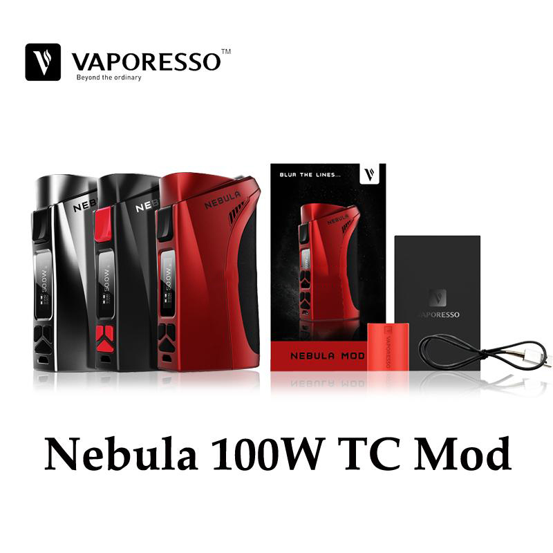 Original Vaporesso Nebula 100W TC Box Mod 100W Powered Fit One 26650 Battery Or 18650