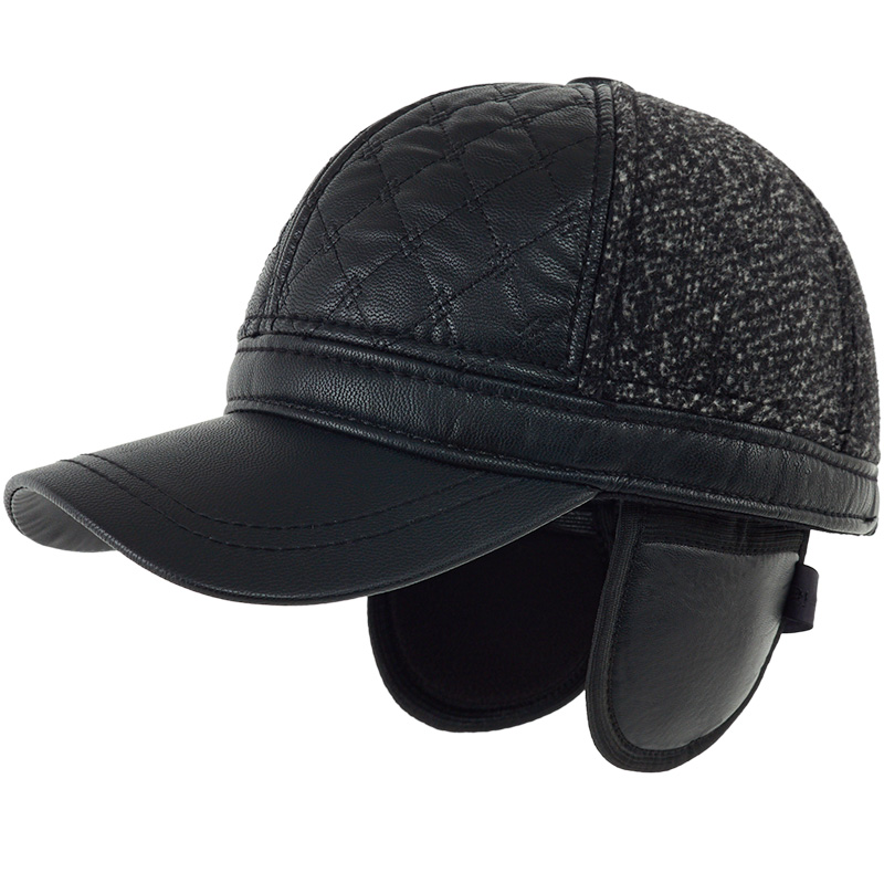 Baseball-Cap Ear-Protection Winter Old Woolen Kagenmo Gift Warm Male Thick Men New-Year