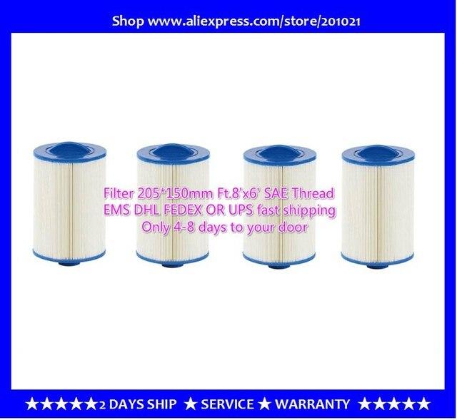 4 adet/grup sıcak küvet spa havuzu filtre 205x150mm kolu 38mm SAE konu filtre + ücretsiz kargo