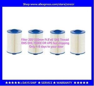 Image 1 - 4 stks/partij hot tub spa zwembad filter 205x150mm handvat 38mm SAE draad filter + gratis verzending