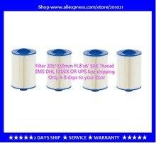 4 unids/lote bañera de hidromasaje Filtro de piscina 205x150mm manija 38mm SAE Filtro de hilo + envío gratis