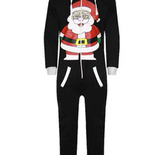 Cartoon Unisex Christmas Cosplay Clothing Comic Santa Claus Long Sleeve Adult  Onesie Costume Winter Sleepwear Animal 815dadab1