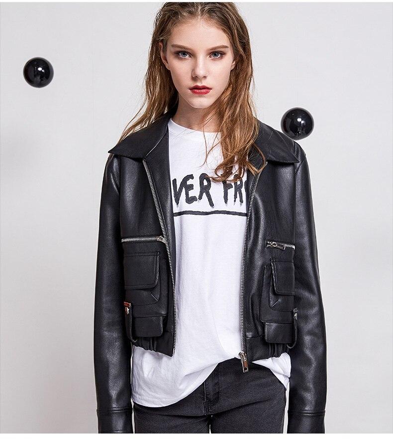 Fashion brand zipper stitching PU   leather   jacket new female loose motorcycle outerwear jacket was thin pu jacket wq1232 dropship