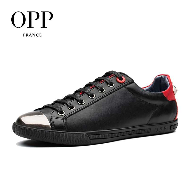 OPP 2018 Mens Shoes Loafers For Men Cow Leather Flats Shoes Casual 4 Seasons Shoes Leather Loafers New footwear Metal Style cbjsho brand men shoes 2017 new genuine leather moccasins comfortable men loafers luxury men s flats men casual shoes