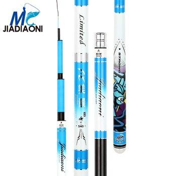 JIADIAONI 28Tune Taiwan Fishing Rod 46T 3kg Bearing 3.6-7.2m 1.2mm Tips Carbon Fishing Rods Super Light Hard Long фото
