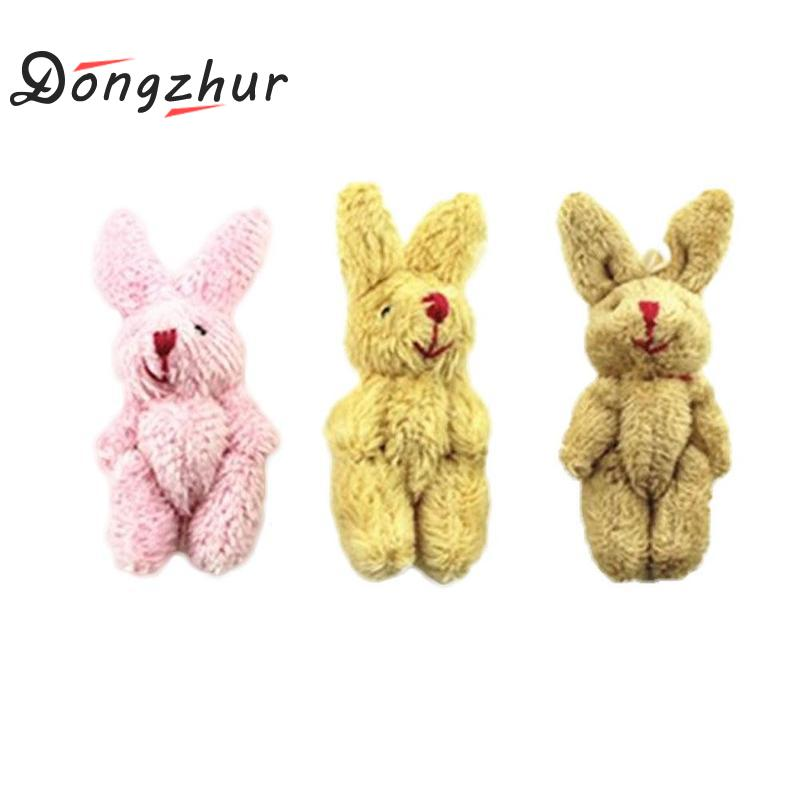 1:12 Scale Mini Fluffy Rabbit Toy Children Diy Dollhouse Miniatures Accessories Doll House Furniture Toy For Living Room