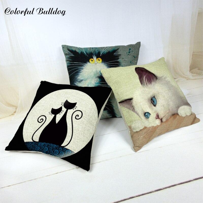 ΞCar cubre la tienda ternura gato Fundas de colchón algodón de