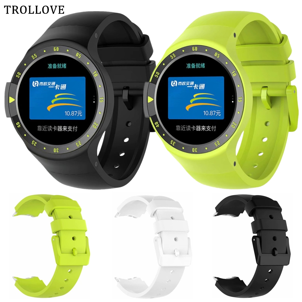 Watch Band for Ticwatch S Tic Smart Watch S Soft Silicone Replacement Wrist Strap for Tic Watch S Sport Watches Accessories