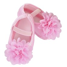 Candy Colors Newborn Baby Prewalker Soft Bottom Anti-slip Shoes Footwear Classic Princess Girl Crib Big Flower Shoes(China)