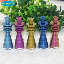 Colorful Titanium Nail With Quartz Carb Cap Nails 10mm 14mm 19mm Female Male Joint Banger