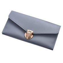 2017 wallets European and American style stitch design female long money clutch bag lady soft surface purse quality pu leather