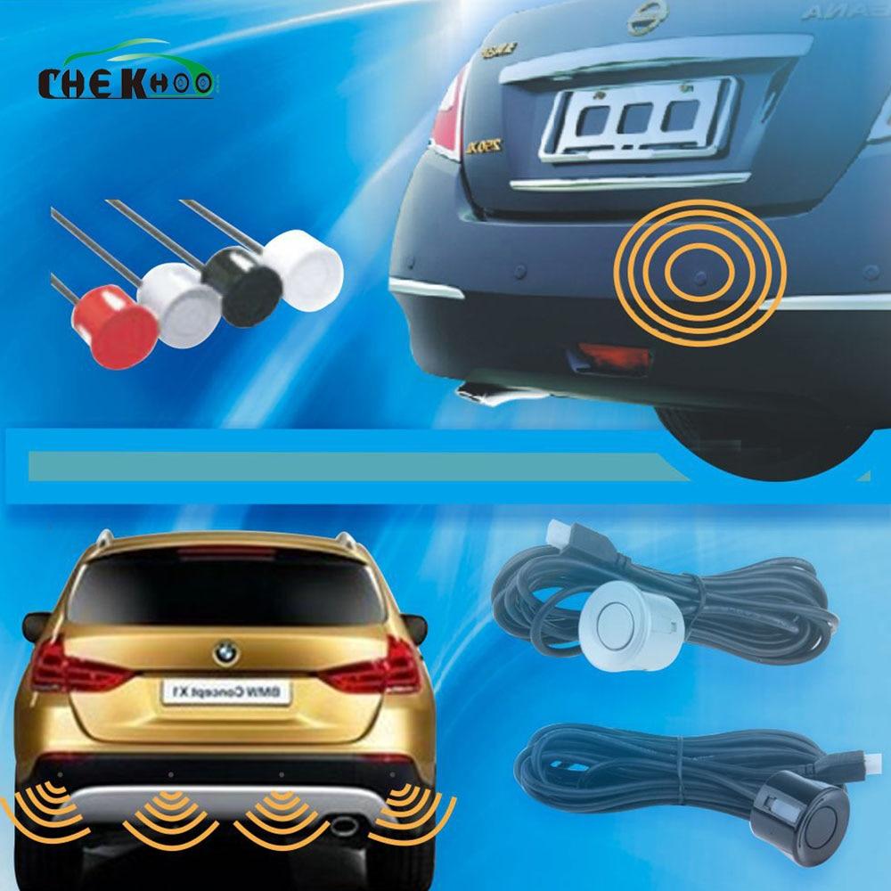 1 stücke 22mm Parkplatz Sensor Mit 230mm Kabel für Auto Parkplatz Sensor Kit Monitor Reverse System Weiß Schwarz silber Gold Rot Blau