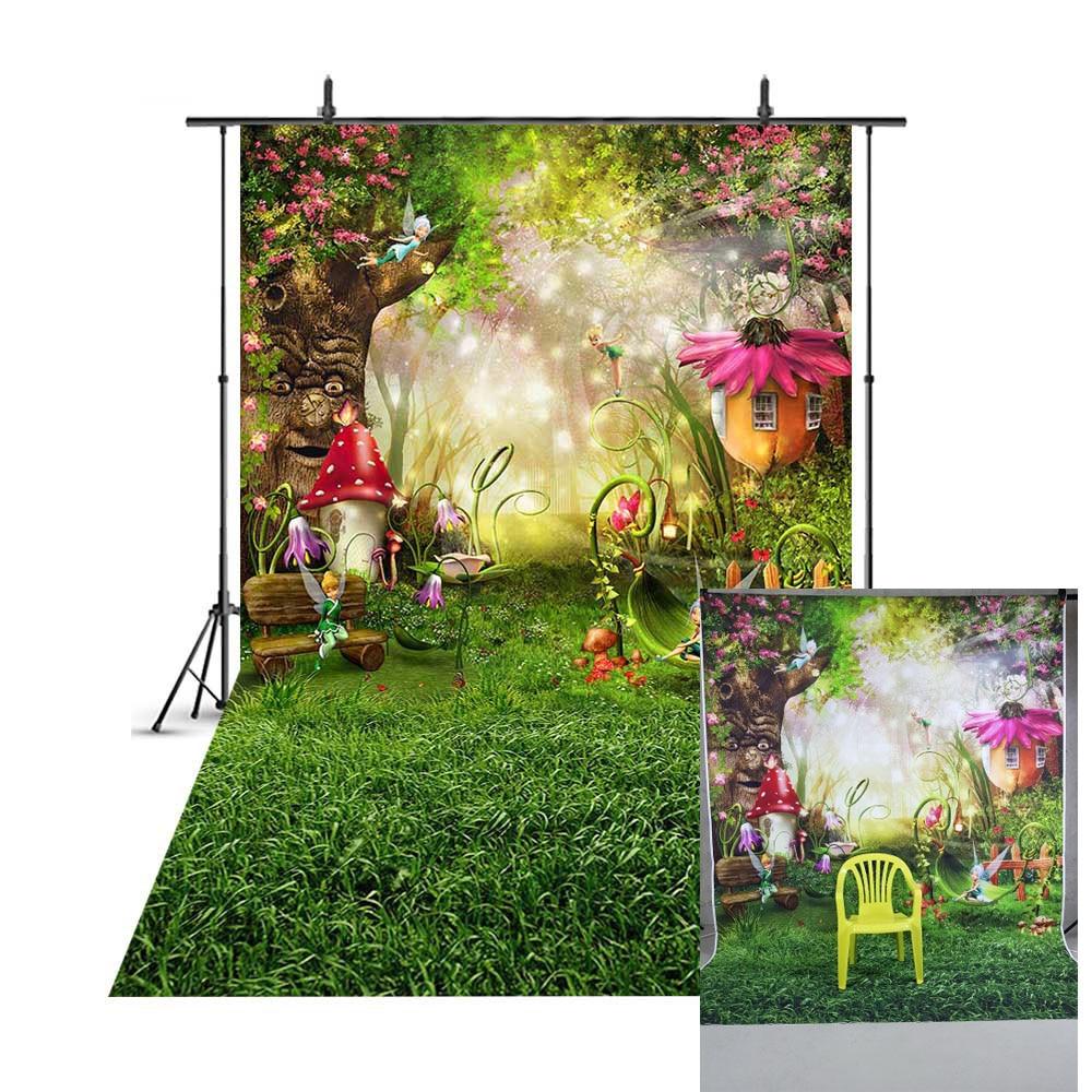 Весенние декорации фон пасхальное яйцо пастбища сказочный лес дети Новорожденные грибы эльфы Цветы фото фон 206|Фон| | - AliExpress