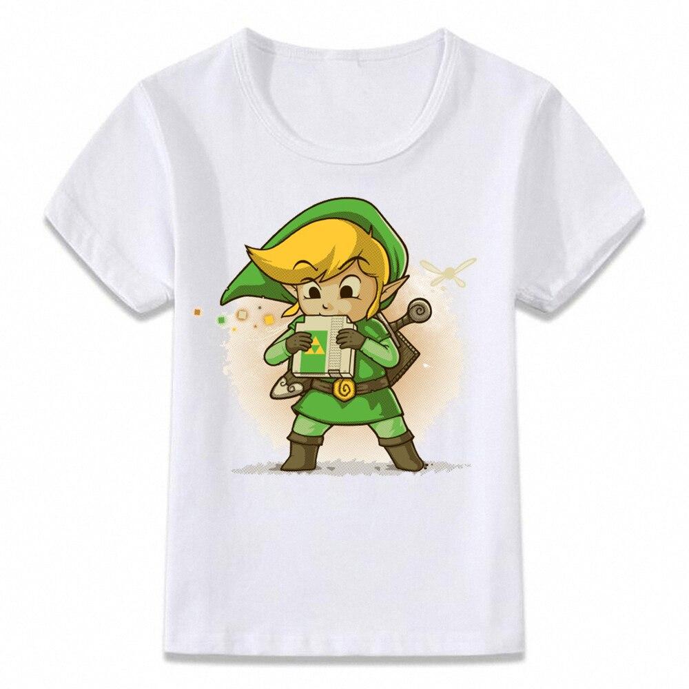 Kids Clothes T Shirt Link Blowing A Cartridge Zelda Ocarina Of Time Children T-shirt For Boys And Girls Toddler Shirt Tee Oal082
