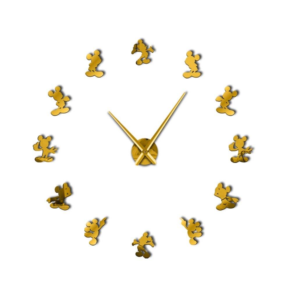 Classic Cartoon Creative Minnie Mickey Mouse Kitchen DIY Wall Hanging Decor  Clock 3d Watch Stickers Housewarming