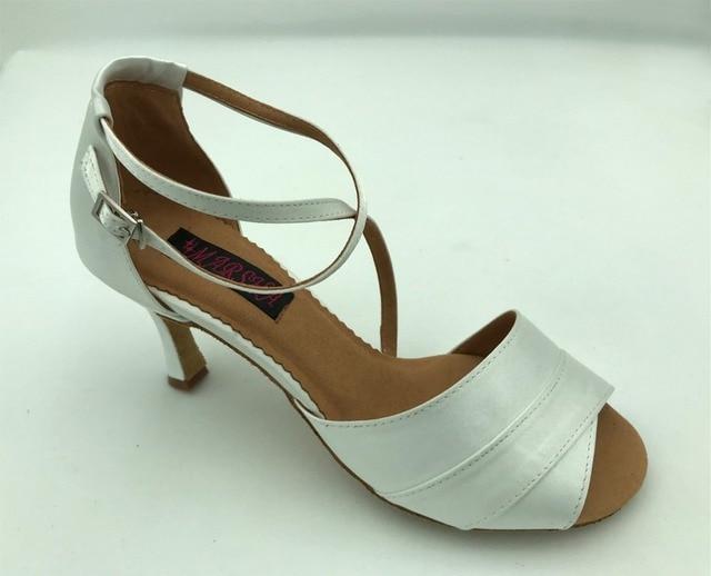 Fashional Comfortable Womens Latin Dance Shoes Ballroom Salsa Dancing Tango Wedding White Colour