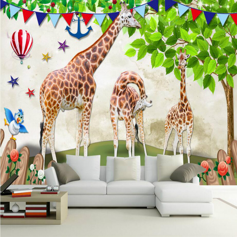 Custom 3D Wallpaper for Children's Room 3d Wall Paper TV Background Painting Mural Wallpapers Home Improvement Decorate custom mural seasons autumn trees rays of light nature wallpapers bar living room tv background kids room 3d wallpaper