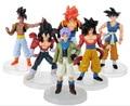 6pcs/set Dragon Ball Z Figurines Son Goku Dragon Ball  Super Saiyan Collection Toy 12cm
