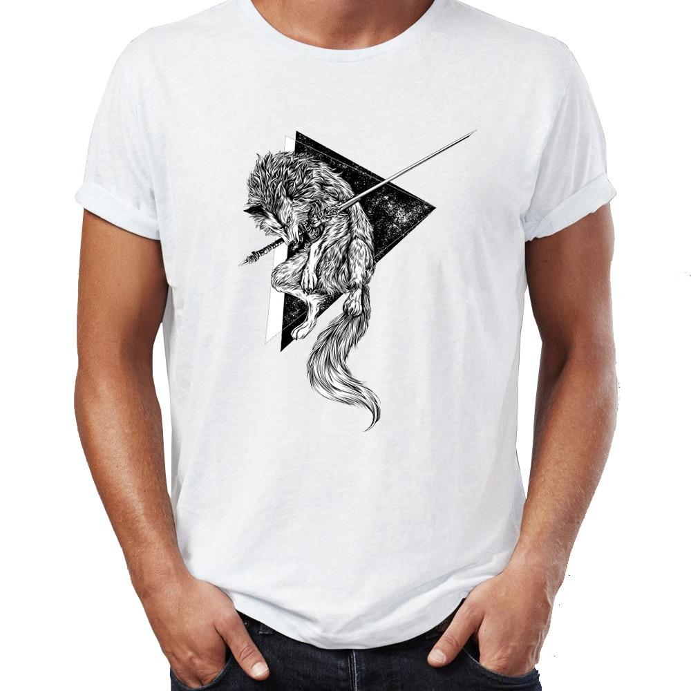 2018 топ с принтом Мужская футболка Sif Great Wolf Арториас Dark Souls задира вычурный Tee