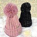 8 colores moda de invierno Knit Beanie ganchillo Pom Pom sombrero Hip Hop Skullies y gorritas tejidas para hombres mujeres Gorras casuales toca gorro