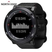 NORTH EDGE Men Sports Watch Altimeter Barometer Compass Thermometer Pedometer Nylon Strap Watches Digital Running Climbing Watch