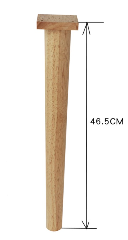 4PCS/LOT  H:46.5CM  Solid Rubber Wood Sofa Legs Foot Furniture Table Support Feets