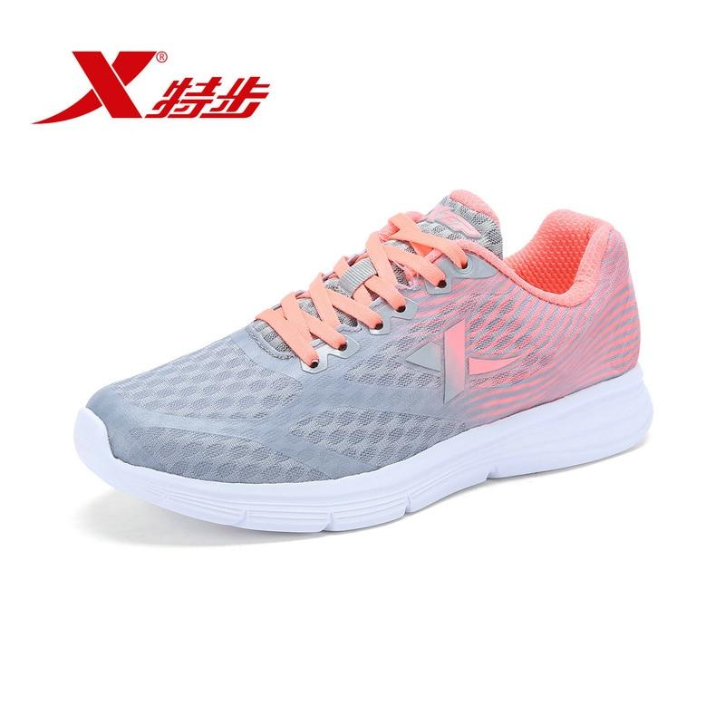 XTEP Lightweight summer pink Women's Breathable Air Mesh running sports Shoes Athletic Sneakers free shipping 983218116332 disney ледянка 72х41 см прямоугольная в поисках дори disney