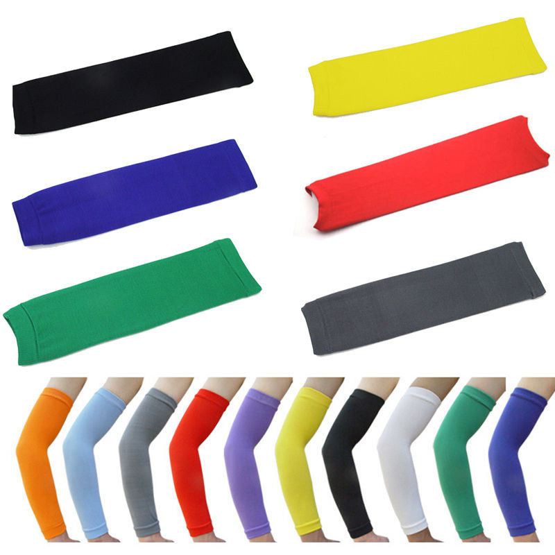 New Golf Basketball Sports Shooting Stretch Wristband Sport Sun UV Protection Armwarmers Arm Band Sleeve