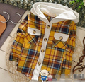 (1piece /lot) 100% cotton 2016 Cute lattice  baby boy jacket 1-3 year old