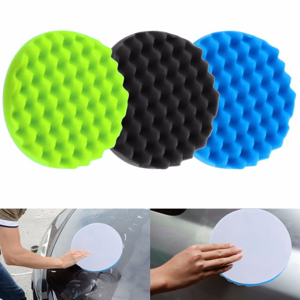 4Pcs/Set 8 Inch Black/blue/green Buffing Polishing Sponge
