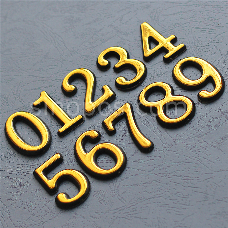 US $13.92 |Self Adhesive Plastic Door Numbers 50mm, sticky numeral signage  mailbox apartment hotel house room individual digits sign plaque-in Plaques  ...