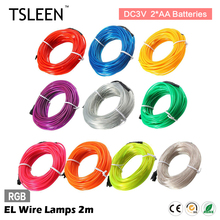 el wire colors online shopping the world largest el wire colors tsleen multiple colors 2m 3v flexible el wire light led rope tube lamp camp decor