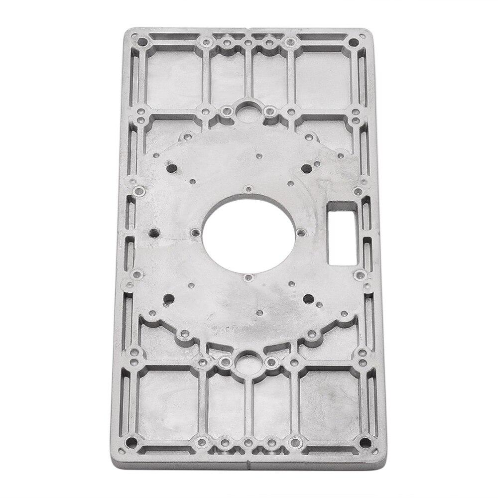 Mayitr Aluminium Legierung Router Tisch Insert Platte Mit 4 stücke Router Einsatz Ringe Holz Router Werkzeuge Für Holzbearbeitung Splitter